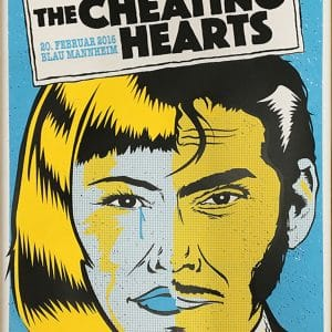 The Cheating Hearts - Gigposter