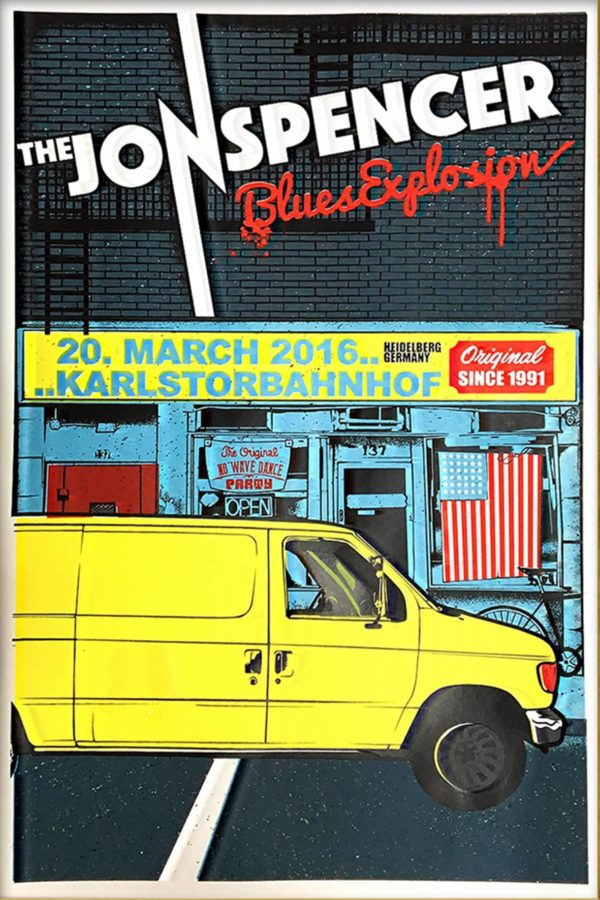 Jon Spencer Blues Explosion - Gigposter