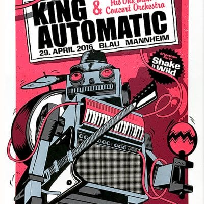 King Automatic - Gigposter