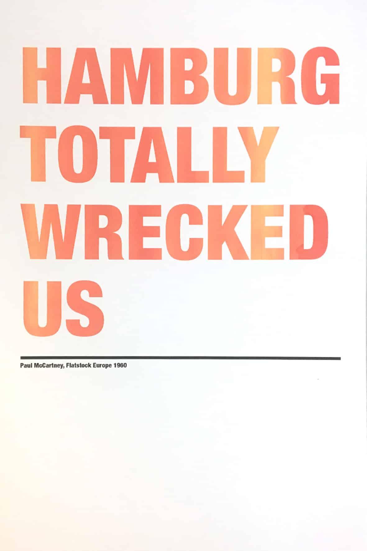Hamburg Totally Wrecked Us - Artprint
