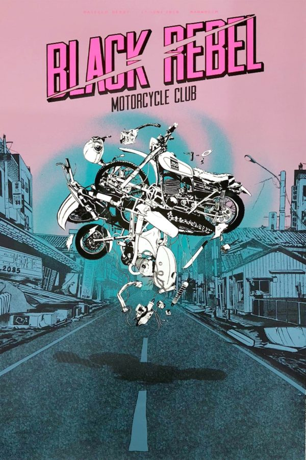Black Rebel Motorcycle Club - Gigposter
