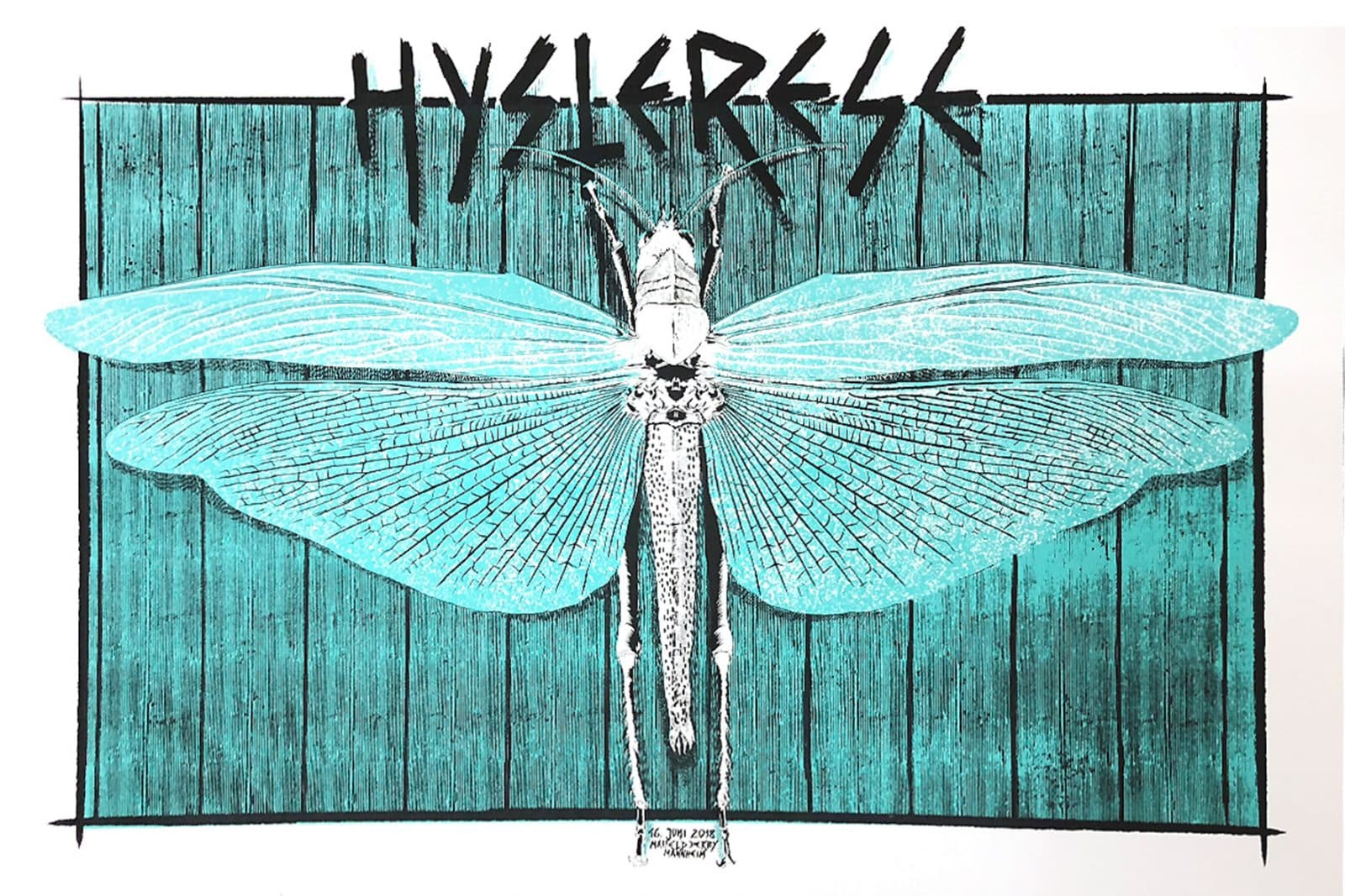 Hysterie - Gigposter