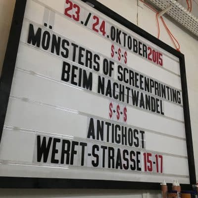 Mönsters Of Screenprinting – Nachtwandel Mannheim 2015