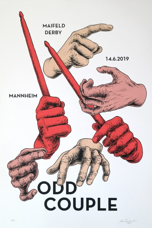 Odd Couple Siebdruck Gigposter