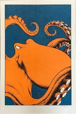 Oktopus Siebdruck