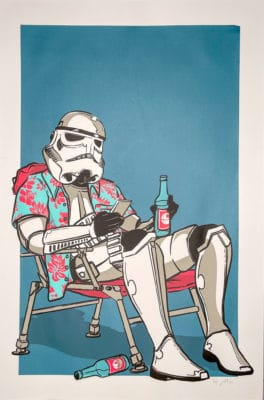 Lawn Chair Stormtrooper Screenprint